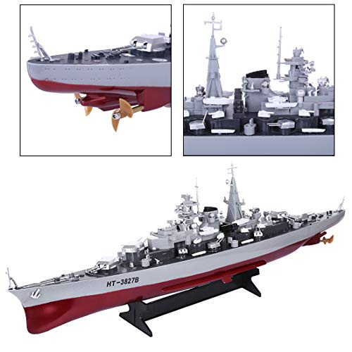 AMITAS 2.4GHz RC Boot Ferngesteuertes Mini Kriegsschiff Speedboot Ferngesteuert Spielzeug Boot für Kinder 71cm