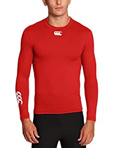 Canterbury Men's Baselayer Cold Long Sleeve Top - Red, X -Small