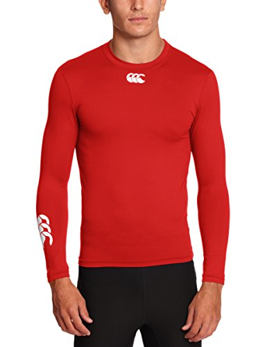 Canterbury of New Zealand Herren Long Sleeve Shirt Baselayer Cold (wärmend), flag red, XL, E544110 (Flag Thermal-shirt)