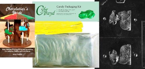 len Lamm Ostern Schokolade Candy Form mit Chocolatier 's Bundle, inkl. 25Cello Taschen, 25gelb Twist Krawatten und Guide ()