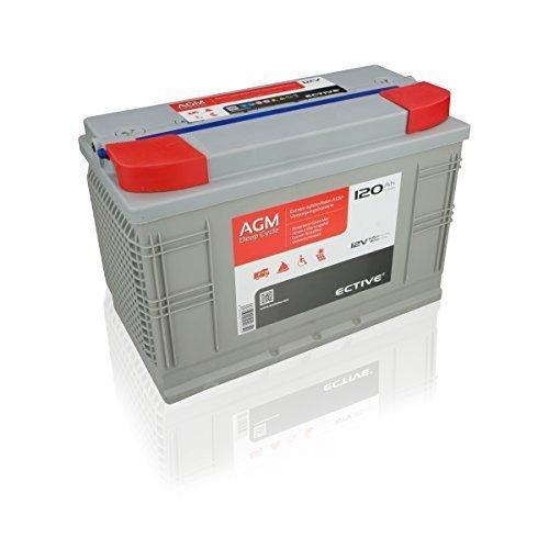Preisvergleich Produktbild ECTIVE 120Ah 12V AGM Batterie EDC-Serie VRLA Versorgungsbatterie in 7 Varianten: 65Ah - 230 AH (wartungsfrei)