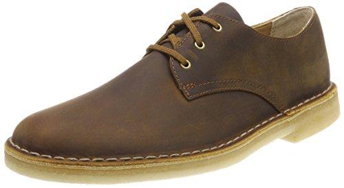 Clarks Herren Desert Crosby Derbys, Braun (Beeswax), 42 EU (Clarks-herren-desert Schuhe)