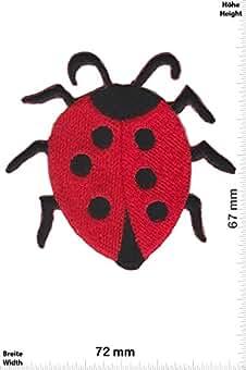 Aufnäher Bügelbild Patches Aufbügeln Ø2cm Marienkäfer Tier Paar rot
