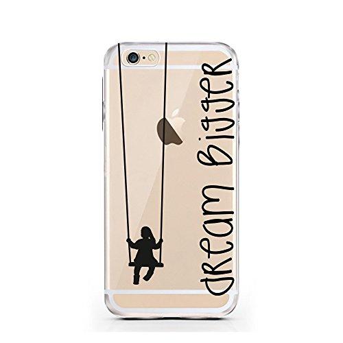 """licaso® iPhone 6 6S 4,7"""" TPU Hülle Sketch Case transparent klare Schutzhülle Hülle iphone6 Tasche Cover (iPhone 6 6S 4,7"""", Burger) Dream Bigger"""