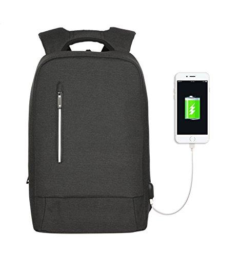 YsinoBear Laptop del Negocio Mochila de Portátil Backpack Impermeable Para el Trabajo Diario Ocio - 21L (Gris Oscuro)