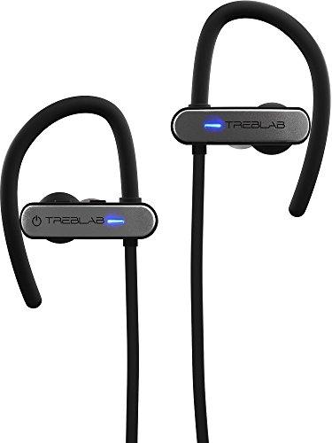 Auricolari bluetooth treblab xr800, migliori auricolari wireless per lo sport, corsa o allenamenti in palestra. miglior modello 2018. ipx7 impermeabile, anti sudore, vestibilità sicura. cancellazione rumori, auricolari con microfono