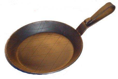 Eisenpfanne Servierpfanne gebogener Griff Ø 20 cm