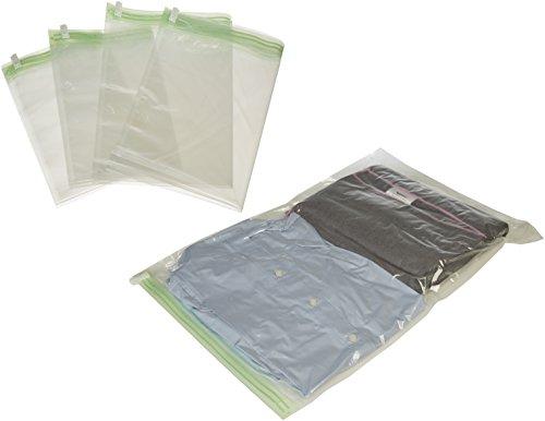 Amazonbasics - sacchetti salvaspazio di compressione da viaggio da arrotolare (non per sottovuoto), 10 pezzi