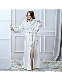 Damen Coral Velvet Thick Nachthemd Warm Flanell Bademantel Pyjama Nachtwäsche