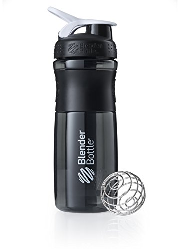 BlenderBottle Sportmixer Tritan Shaker | Protein Shaker | Wasserflasche | Diät shaker Black - White (28oz / 820ml)