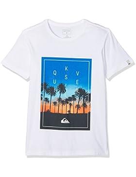 Quiksilver Classic Salina Stars Camiseta, Niños, Gris (Athletic Heather), M/12