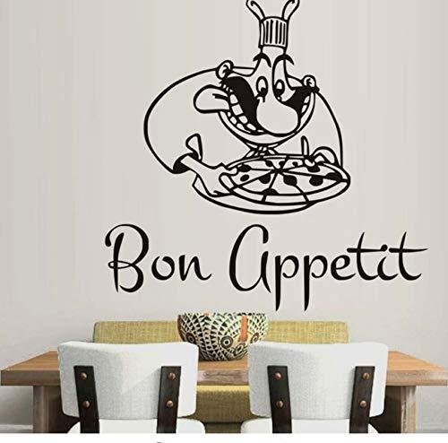 inyl-Wandaufkleber Zitat kreative Restaurant Dekoration Küche Applique Kunst 44x44 cm ()