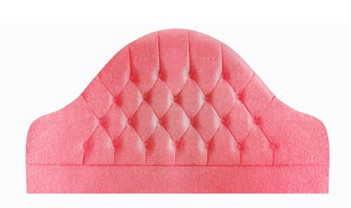 Interiors 2-Suit Velour Nicola Single Headboard, 3 ft, Rose