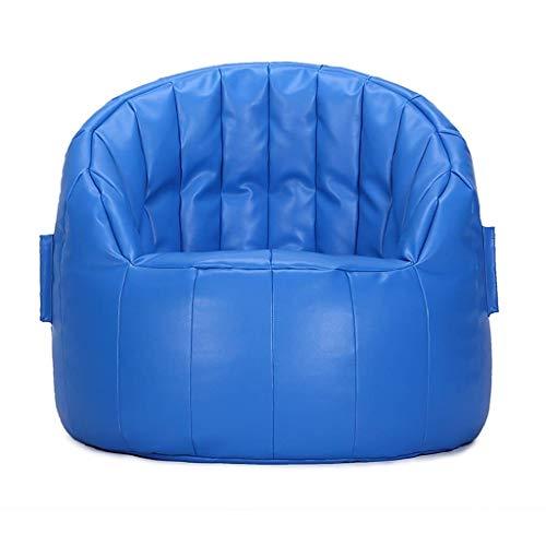 Blau Leder Osmanischen (LGQ-ZW Leder Recliner Sessel Sofa Home Freizeit Stuhl Reclining Spiel Hochlehner Wohnzimmer Sitzsack Indoor-und Outdoor-Freizeit Sitz (Color : Blue))