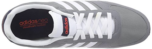adidas Neo City Racer, Chaussures de Running Compétition Homme, Rouge Multicolore - mehrfarbig (Grey/Ftwwht/Brired)