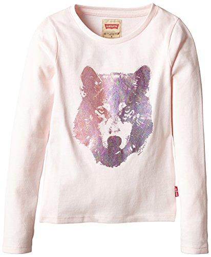 Levi's Alexia-Camicia con maniche lunghe Bambine e ragazze,    rosa 4 anni