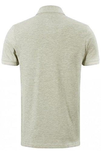 Herren Tokyo Laundry Rochester Freizeit Pique Polo Hemden Hafer Grau Meliert
