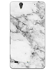Sony Xperia C4 Cases & Covers - White Marble Case by myPhoneMate - Designer Printed Hard Matte Case - Protects from Scratch and Bumps & Drops.