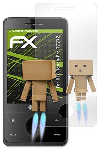 HTC Touch-Pro T7272 Spiegelfolie - 1er Set atFoliX FX-Mirror Displayschutz Folie mit Spiegeleffekt