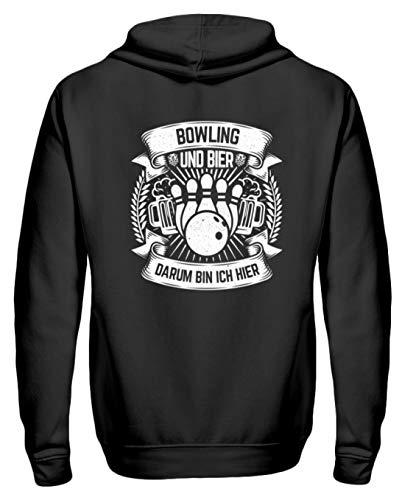Chorchester Für Bowling und Bier Fans - Zip-Hoodie -M-Schwarz Bier-zip Hoodie