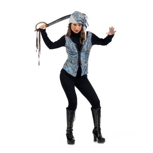 Weste mit Hut - L (Davy Jones Kostüme Halloween)