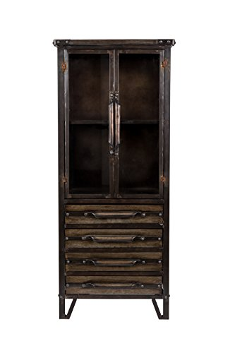 Felis Lifestyle Otis Kabinett Metall Schwarz 54 x 40 x 126.5 cm