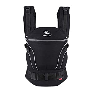 manduca First Baby Carrier > Blackline PhantomGrey < Adjustable & Comfortable Baby Carrier from Newborn to Toddler (3.5 up to 20kg), 3-Position (Front, Hip & Back), Made in Europe, Black/Dark-Grey   2