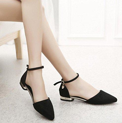 Sommer wies grobe mit dem Wort cingulären sexy und elegante Sandalen Schuhe Black