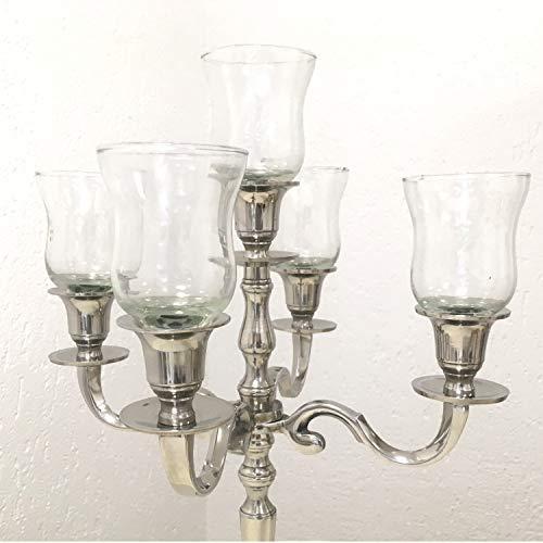 Dekowelten 12er Set Teelichthalter aus Glas Gastro Version Glas PL/Glasaufsatz für Kerzenleuchter Kerzenständer