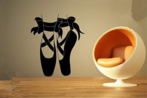 zzlfn3lv Wandaufkleber Home Vinyl Aufkleber Ballettschuhe Tanzschuhe Klassische Theater mädchen Zimmer Ballettschuhe tanzbewegung Spitze 50 * 70 cm - 70 Home Theater
