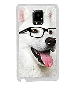 Dog with Reading Glasses 2D Hard Polycarbonate Designer Back Case Cover for Samsung Galaxy Note Edge :: Samsung Galaxy Note Edge N915FY N915A N915T N915K/N915L/N915S N915G N915D