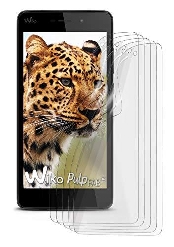 5X Wiko Pulp Fab 4G | Schutzfolie Matt Bildschirm Schutz [Anti-Reflex] Screen Protector Fingerprint Handy-Folie Matte Bildschirmschutz-Folie für Wiko Pulp Fab 4G Bildschirmfolie
