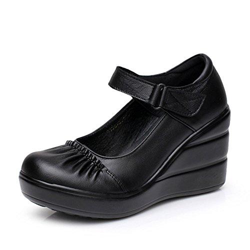 Scarpe piattaforma/Tacchi a cuneo piattaforma/Luce di testa scarpe-A Lunghezza
