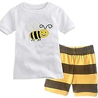 Qtake Fashion Girls Pajamas Children Clothes Set 100% Cotton Little Kids Pjs Sleepwear (2-3 Years, White)