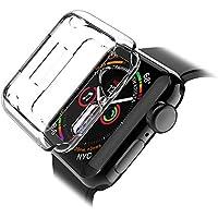 LK Cover per Apple Watch 44mm Series 4 Custodia, Case in Morbido Silicone di Gel AntiGraffio in TPU Ultra [Slim Thin] Protettiva - Trasparente