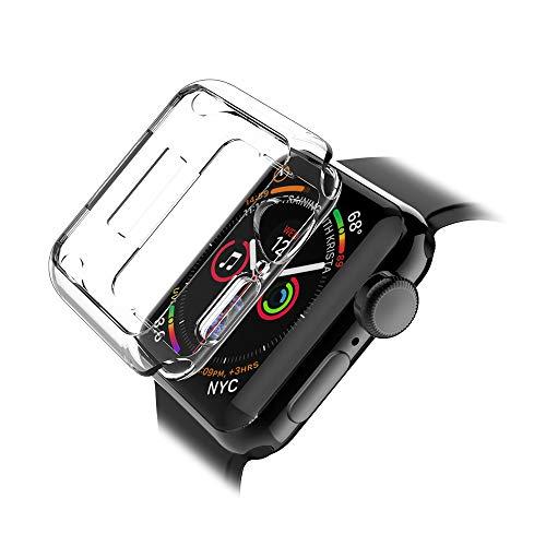 LK Hülle für Apple Watch 44mm Series 4 Ultra Schlank Dünn TPU Gel Gummi Weiche Haut Silikon Schutzhülle Abdeckung Case Cover für Apple Watch 44mm Series 4 (Transparent) -
