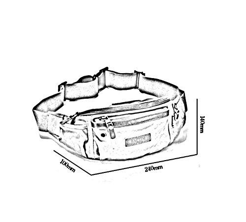 ZHANGRONG- Tasche Da Uomo Borsa Del Torace Di Sport Sacchetto Di Tela Di Canapa Esterno Di Svago Della Spalla Zaino Multifunzionale Sacchetto Del Messaggero (Opzionale A Colori) ( Colore : 3 ) 3