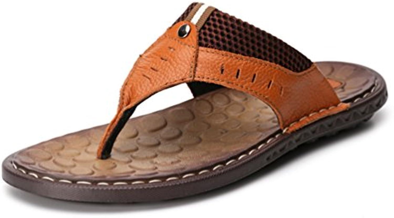 Homme Chaussure Été  s s s Cuir Souple Antidérapant  s de Plage TongsB07D4FHG7FParent 501784