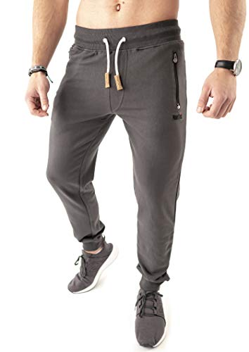 Mount Swiss Herren MS Hose, Finn, Anthracite, Gr. 5XL / Lange Hose/Jogginghose/Sweatpants