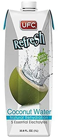 UFC Refresh 100% Natural Coconut Water (Non-GMO) 1Litre (Pack of 12)