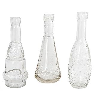 Annastore 12 Stück Deko-Glasflaschen - Vasen H 12 cm - Süße Minivasen für eine Blume ideal