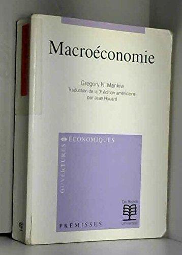 Macroéconomie par Gregory N. Mankiw