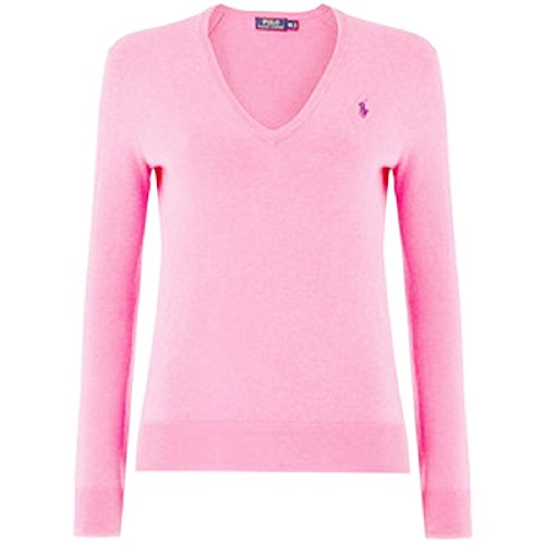 Ralph Lauren Polo Damen Pullover Eloise Pima Cotton Rosa (Pink) (M)