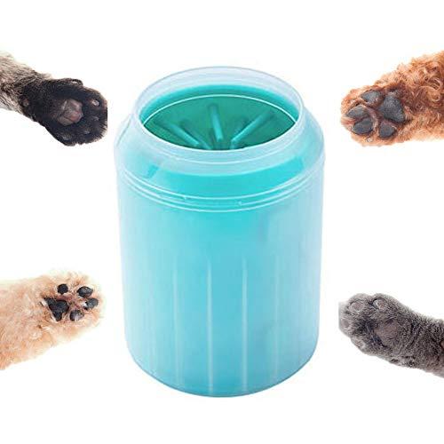 JHDUID Portable Dog Paw Washer Cup, für schmutzige und schlammige Pfoten,Green,L -