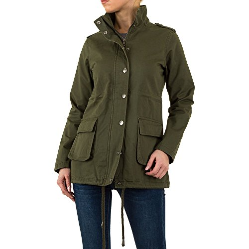 Leichter Parka Military Jacke Für Damen , Grün In Gr. 40/L bei Ital-Design
