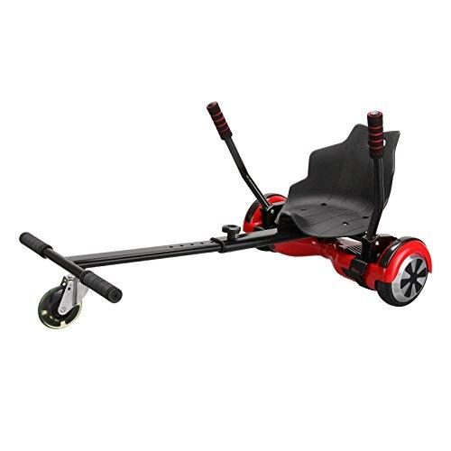 Top in Qualität und Verarbeitung - Hovercart Hoverkart Hoverboard-Sitz Aufsatz Hoverseat in Größe verstellbar (schwarz oder rot) (schwarz)