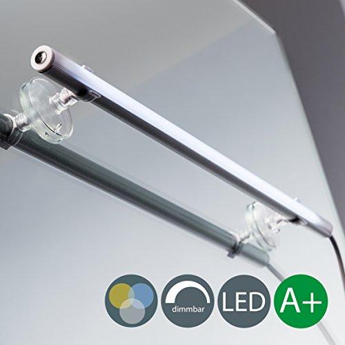 LED Spiegelleuchte zum Schminken Spiegellampe Schminklicht Schminkleuchte Tageslicht Make Up Mit Dimmfunktion Mit Farbwechsel 6 Watt 420LM inklusive Saugnäpfe Wandstrahler