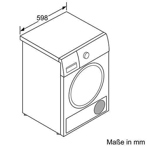 Siemens iQ800 WT47Y701 iSensoric Premium-Wärmepumpentrockner / A++ / 8 kg / Weiß / Selbstreinigender Kondensator / SoftDry-Trommelsystem / TFT-Display - 15