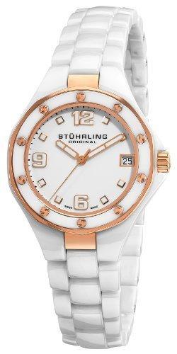 Stuhrling Original - Reloj de pulsera unisex, cerámica, color blanco