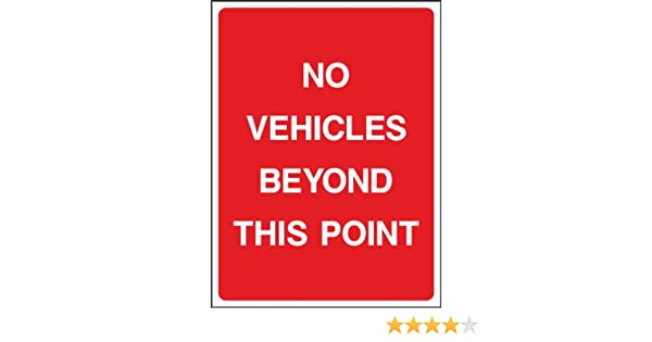 WOOTTON INDUSTRIES LIMITED 20cmx15cm Authorised Vehicles Only Sign 1mm Rigid Sign - Type V6 .